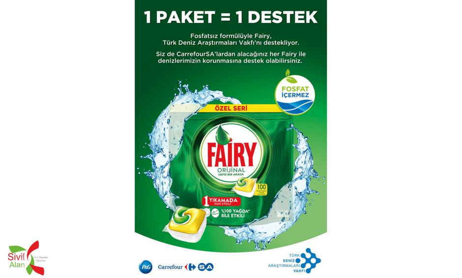 "Fosfatsız Fairy'den TÜDAV'a ""1 Paket = 1 Destek"""