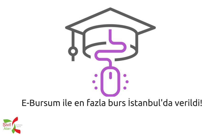 E-Bursum ile en fazla burs İstanbul'da verildi!