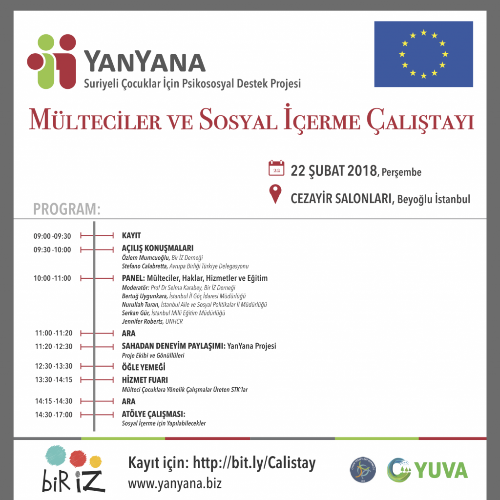 YanYana Projesi - Mülteciler ve Sosyal İçerme Çalıştayı