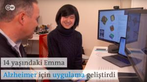 14 yaşındaki Emma Alzheimer hastaları için uygulama geliştirdi - DW Türkçe