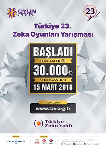 Türkiye 23. Zeka Oyunları Yarışması OYUN 2018