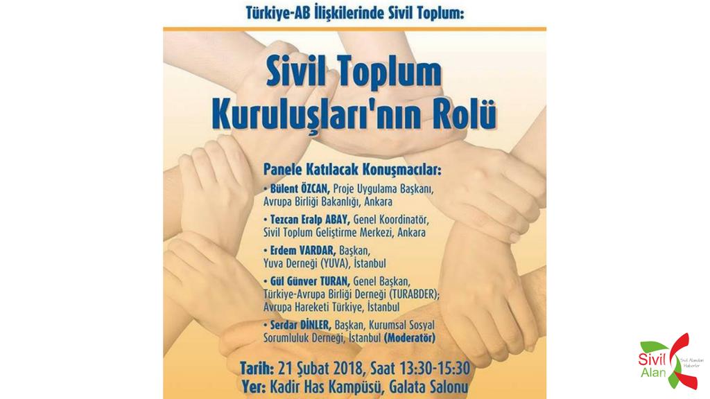 ürkiye-Avrupa Birliği İlişkilerinde Sivil Toplum: Sivil Toplum Kuruluşları'nın Rolü