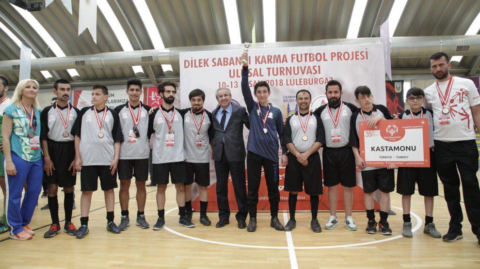 Özel Olimpiyatlar Türkiye Dilek Sabancı Karma Futbol Projesi Ulusal Turnuvası Lüleburgaz'da gerçekleştirildi!