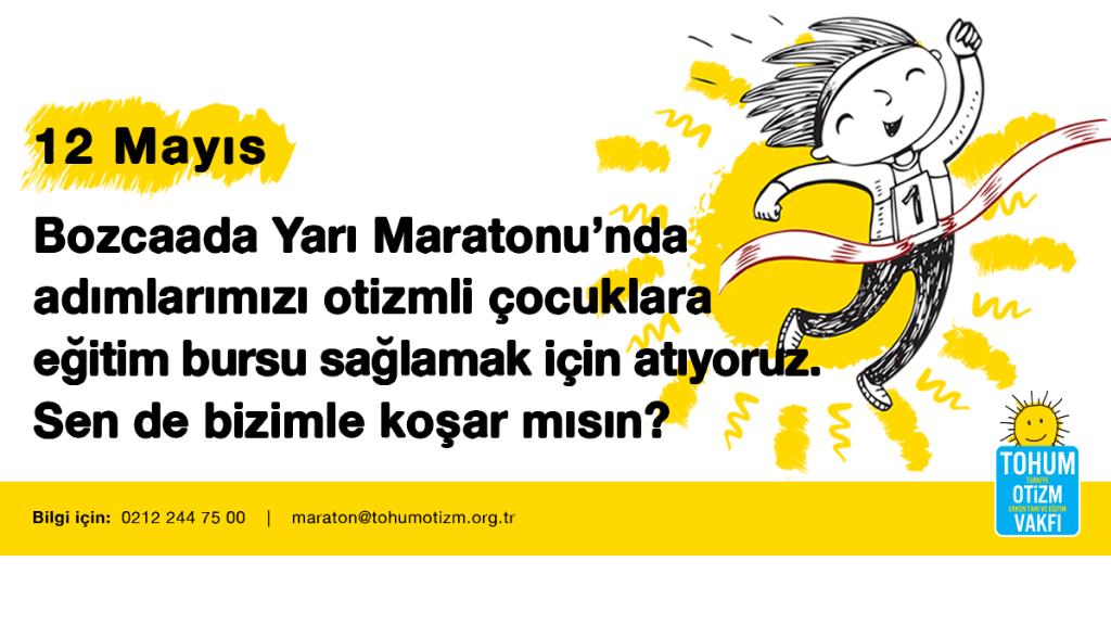 Bozcaada Yarı Maratonu'nda Adımlar Otizmli Çocukların Eğitimi İçin!