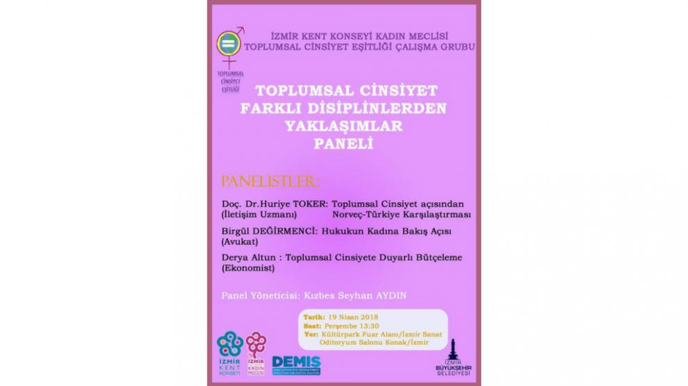 Toplumsal Cinsiyet Farklı Disiplinlerden Yaklaşımlar Paneli – İzmir