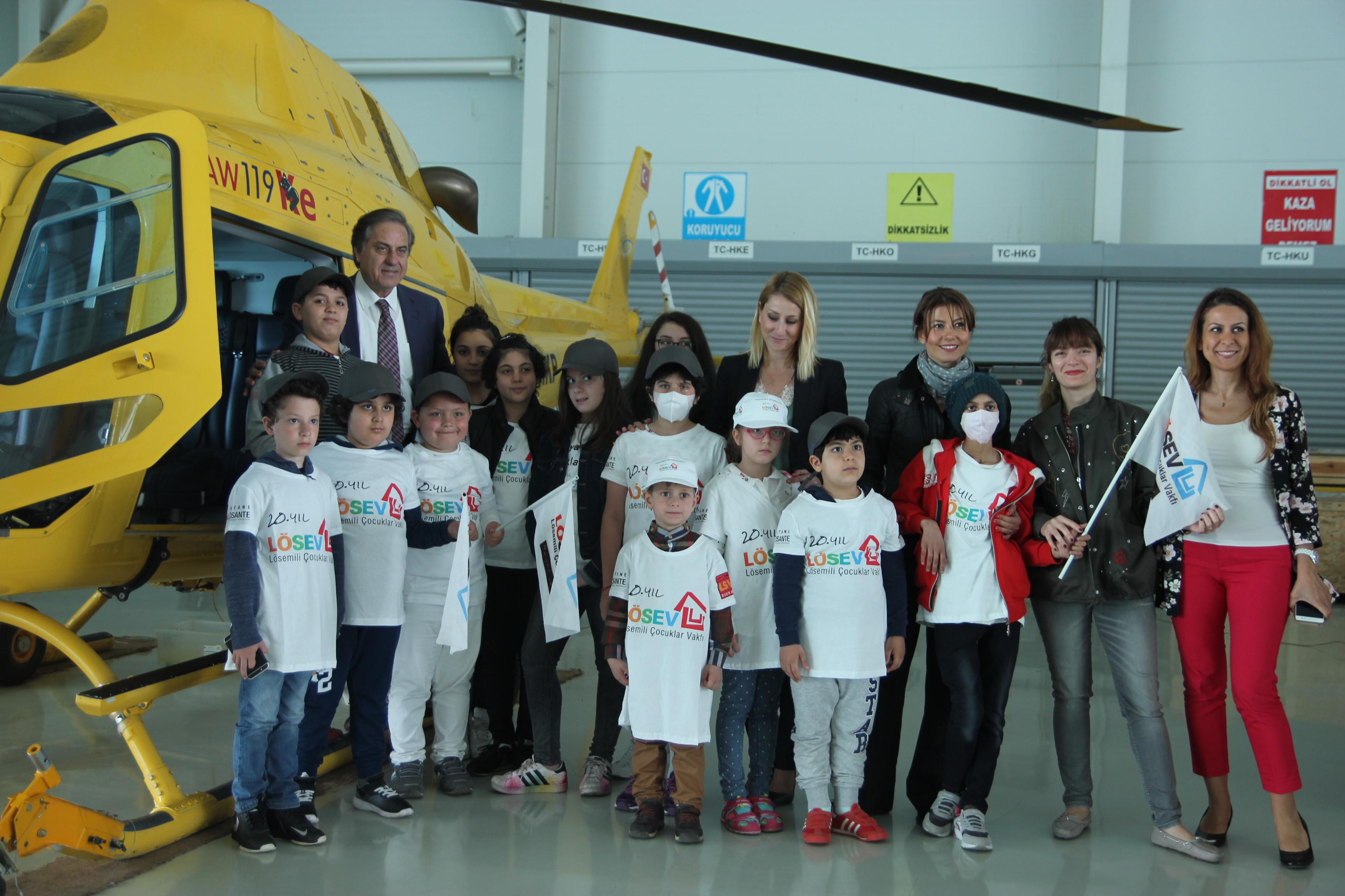 KAAN AIR, LÖSEV'li 16 çocuğun uçma dileğini gerçekleştirdi