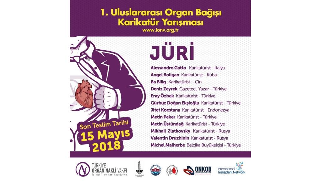 Organ Bağışı Farkındalığı için Uluslararası Karikatür Yarışması