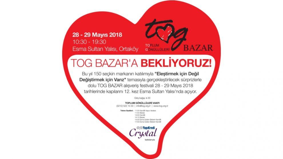 TOG BAZAR, 28-29 Mayıs'ta Esma Sultan Yalısı'nda