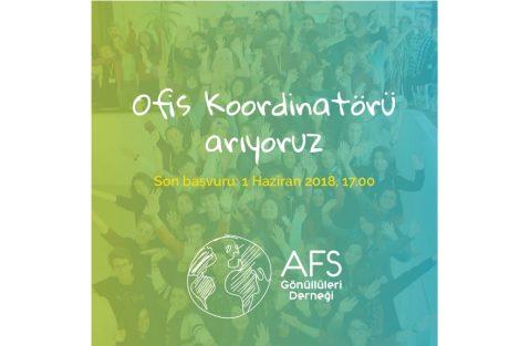 AFS Gönüllüleri Derneği Ofis Koordinatörü Arıyor!