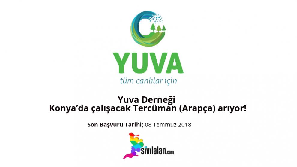 Yuva Derneği Konya'da çalışacak Tercüman (Arapça) arıyor!