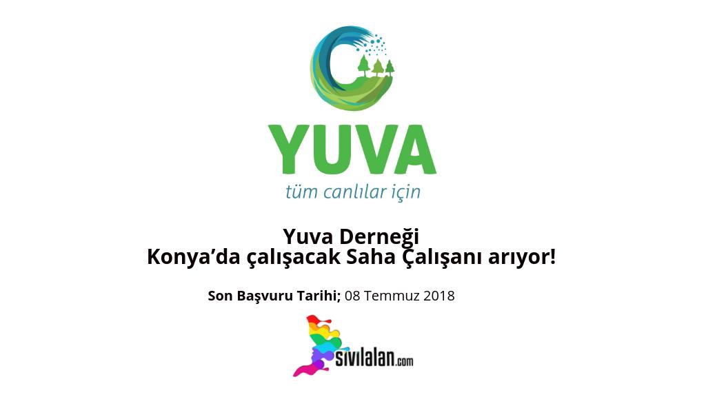 Yuva Derneği Konya'da çalışacak Saha Çalışanı arıyor!