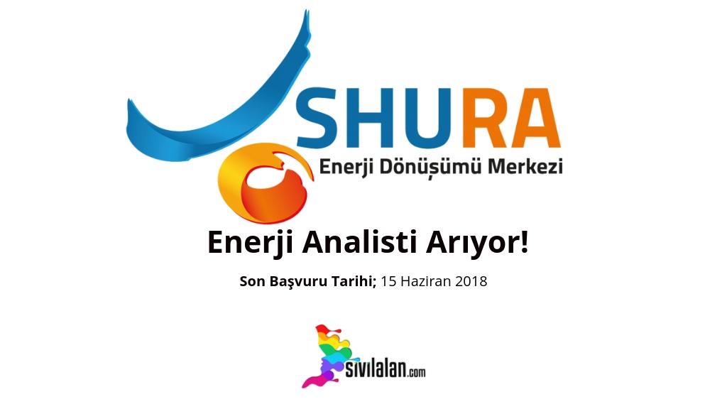 SHURA Enerji Dönüşümü Merkezi Enerji Analisti Arıyor!