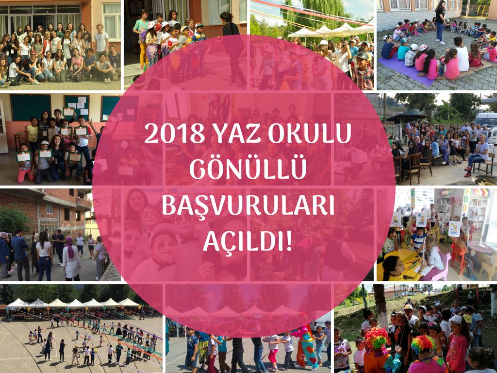 """Genç Hayat Vakfı """"2018 Yaz Okulu"""" Gönüllü Başvuruları Açıldı!"""