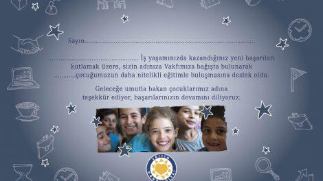 TEGV Eğitime Destek Sertifikaları Artık Dijital!