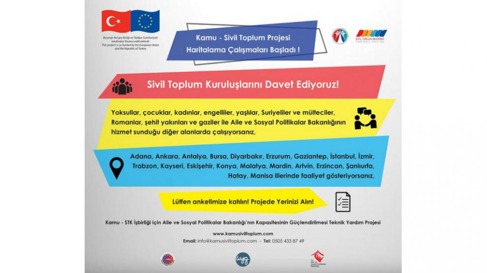 Kamu - Sivil Toplum Projesi Haritalama Çalışmaları Başladı!
