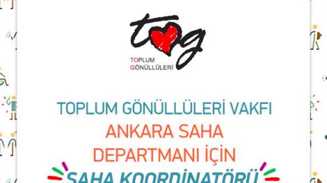 Toplum Gönüllüleri Vakfı Ankara Saha Koordinatörü Arıyor!