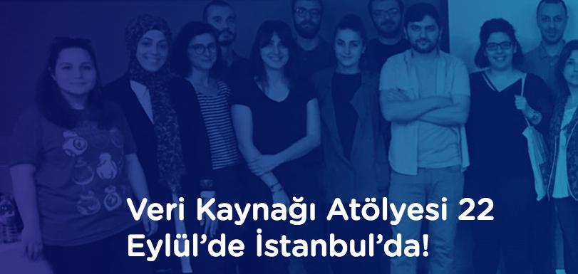 Veri Kaynağı Atölyesi 22 Eylül'de İstanbul'da!