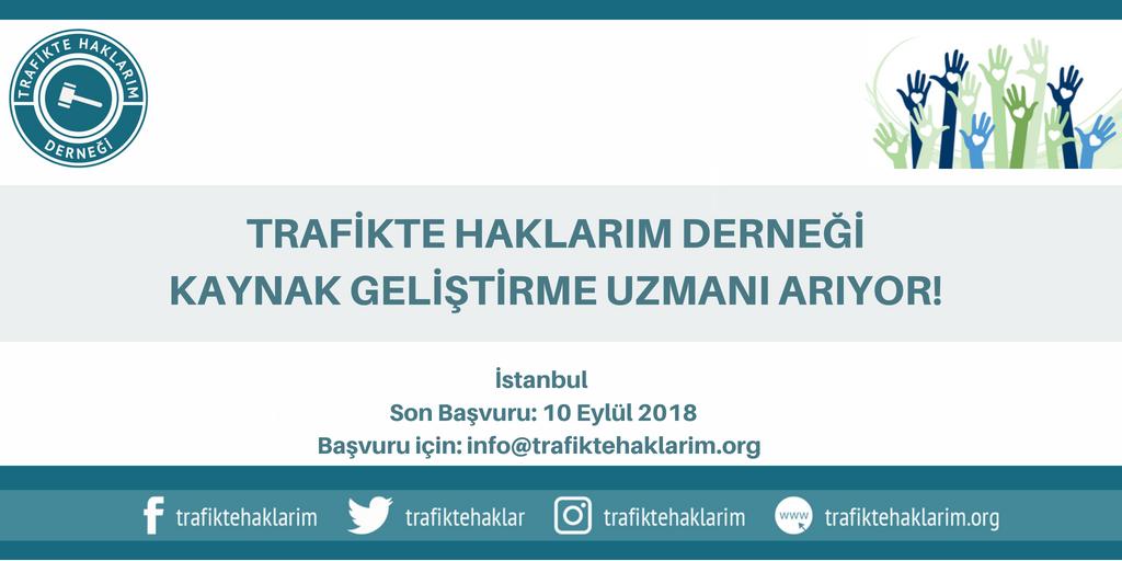 Trafikte Haklarım Derneği Kaynak Geliştirme Uzmanı Arıyor!