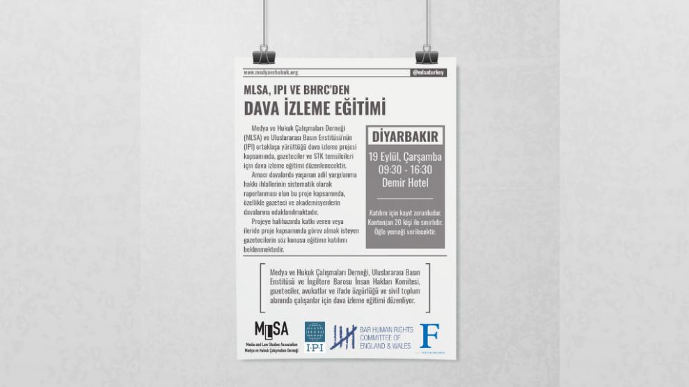 Gazeteciler ve STK Temsilcileri için Dava İzleme Eğitimi - Diyarbakır