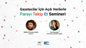 Matthew Caruana Galizia ve Oya Özarslan ile Gazeteciler için açık verilerle Parayı Takip Et Semineri