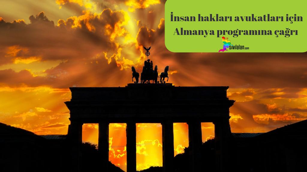 İnsan hakları avukatları için Almanya programına çağrı