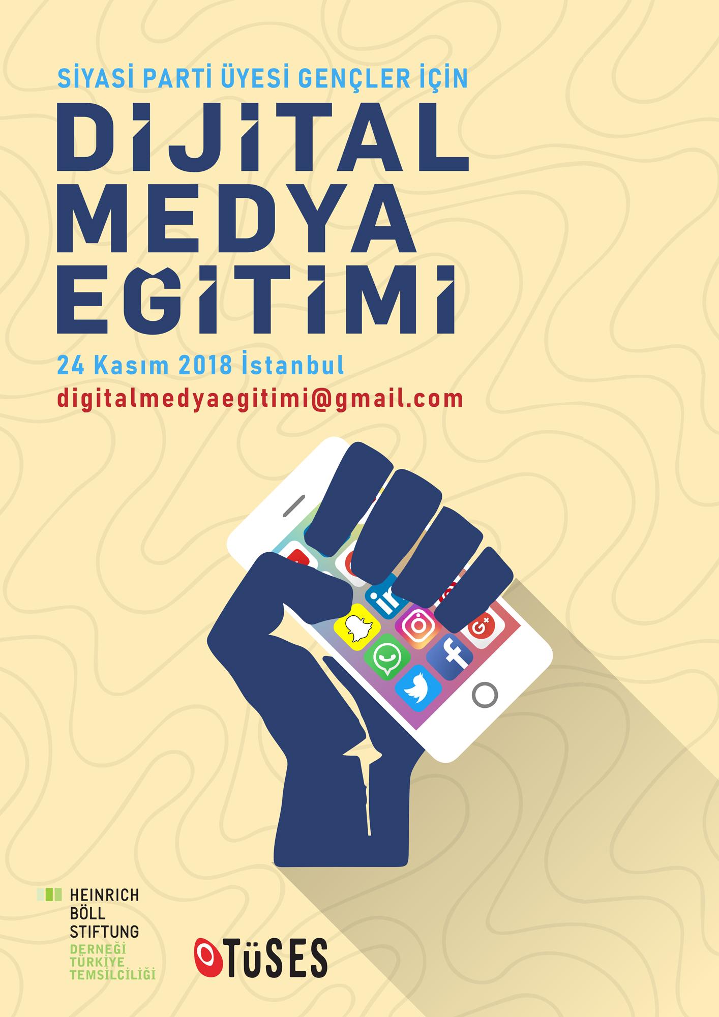 Siyasi Partili Gençler İçin Dijital Medya Eğitimine Katılmak İster misiniz?