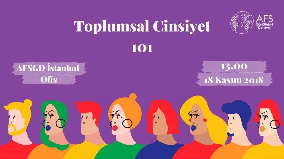 'Toplumsal Cinsiyet 101' 18 Kasım'da İstanbul'da