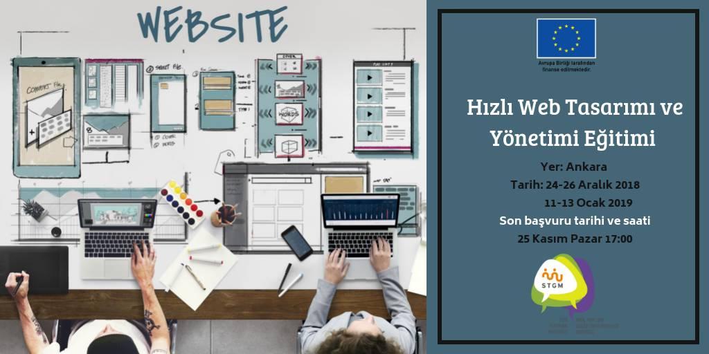 Hızlı Web Tasarımı ve Yönetimi Eğitimi'ne Başvurular Başladı!