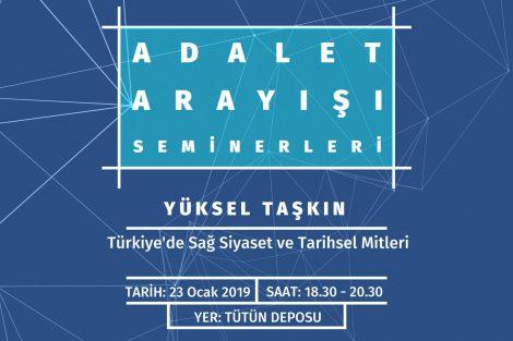 Karakutu Adalet Arayışı Seminerleri - Türkiye'de Sağ Siyaset ve Tarihsel Mitleri