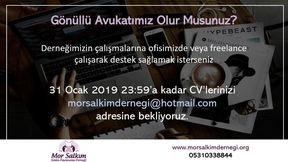 Mor Salkım Kadın Dayanışma Derneği Gönüllü Avukat Arıyor!