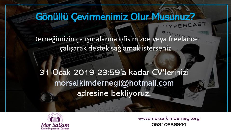 Mor Salkım Kadın Dayanışma Derneği Gönüllü Çevirmen Arıyor!
