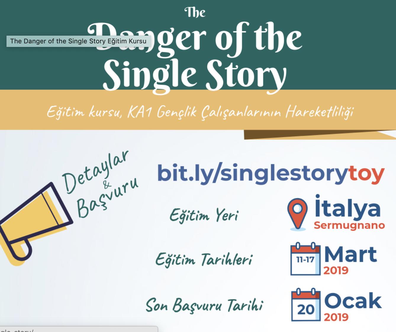 The Danger of the Single Story Eğitim Kursu