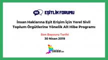 İnsan Haklarına Eşit ErişimİçinYerel Sivil Toplum Örgütlerine Yönelik Alt Hibe Programı
