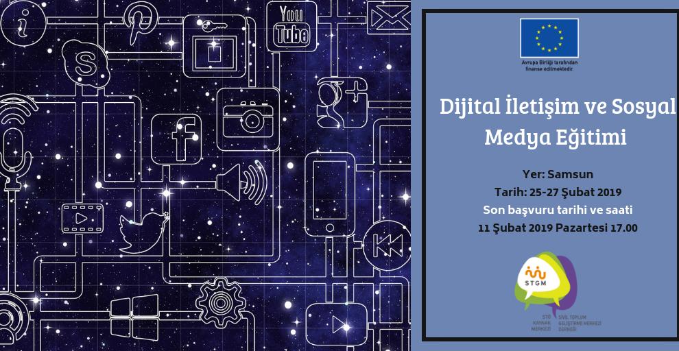 Dijital İletişim ve Sosyal Medya Eğitimi Başvuruları Başladı!