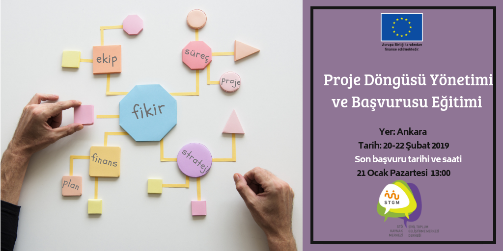 Proje Döngüsü Yönetimi ve Proje Başvurusu Eğitimi Başvuruları Başladı!