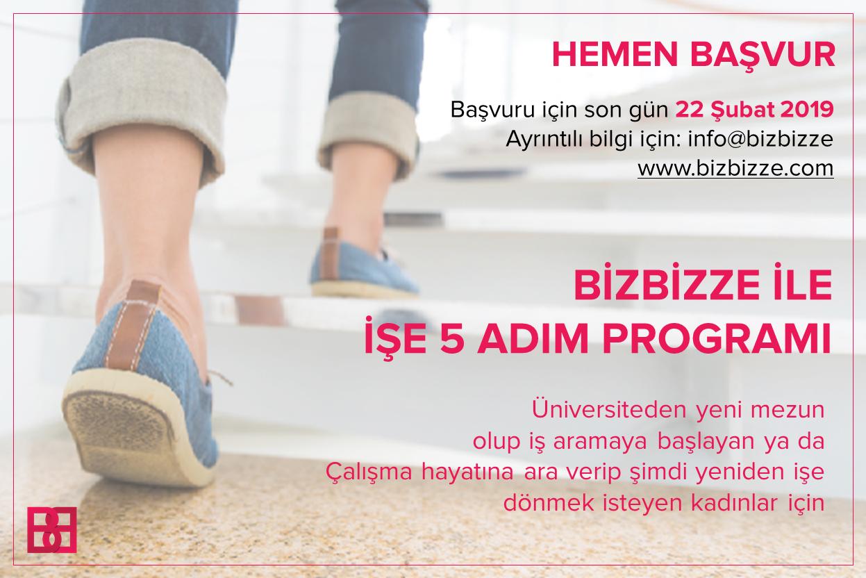 BizBizze ile İşe 5 Adım Programı başvuruları açıldı!