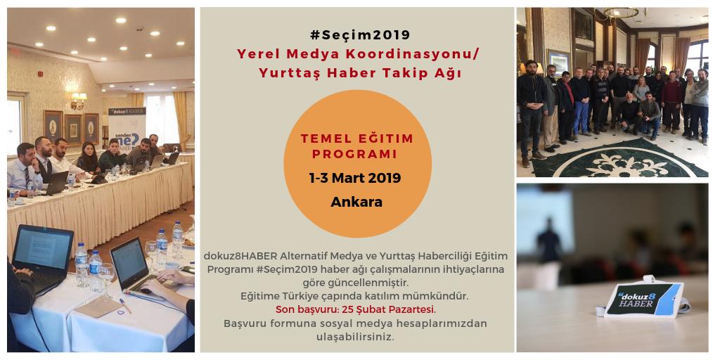 dokuz8HABER #Seçim2019 odaklı Temel Eğitim Programı 1-3 Mart'ta Ankara'da düzenlenecek.