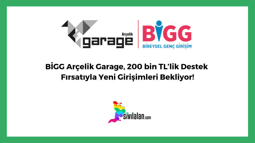 BİGG Arçelik Garage, 200 bin TL'lik Destek Fırsatıyla Yeni Girişimleri Bekliyor