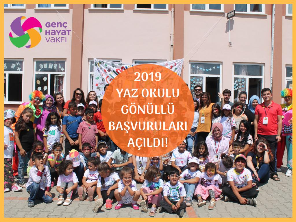 Genç Hayat Vakfı Yaz Okulu Gönüllülerini Arıyor!