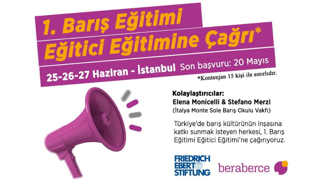 beraberce'den Barış Eğitimi Eğitici Eğitimi'ne çağrı!