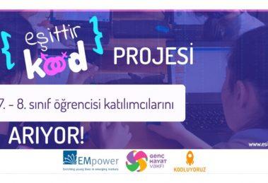 Eşittir Kod Projesi, 6.-7. ve 8. Sınıf Öğrencisi Katılımcılarını Arıyor!