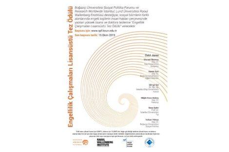 Research Worldwide İstanbul ve Boğaziçi Üniversitesi Sosyal Politika Forumu Engellilik Çalışmaları Lisansüstü Tez Ödülü!