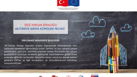 AB Türkiye Medya Köprüleri Projesi Diplomasi Akademisi Eğitimleri Devam Ediyor!
