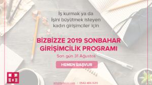 BizBizze Girişimcilik Programı Başvuruları başladı