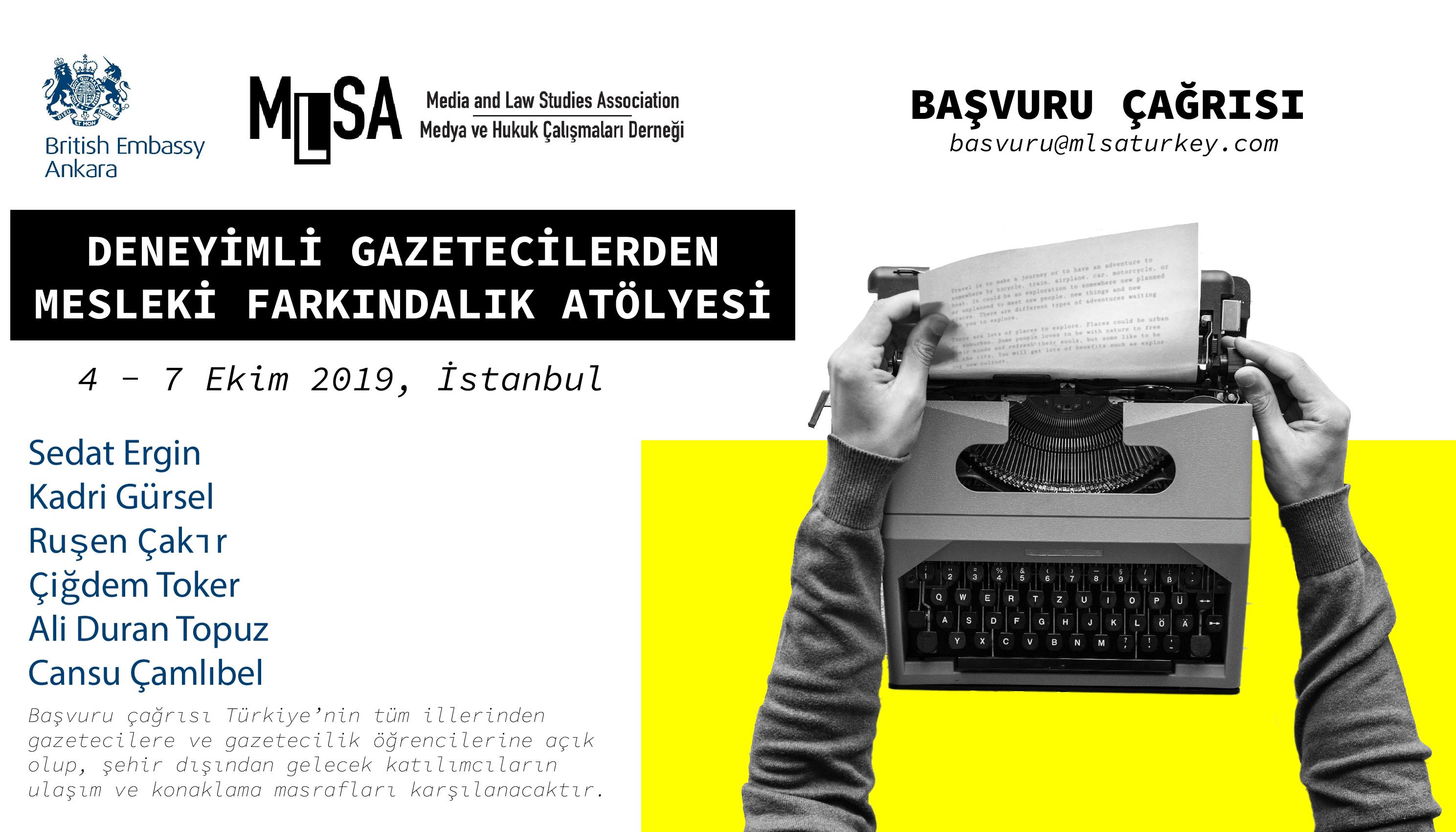 Başvuru Çağrısı: Deneyimli Gazetecilerden Mesleki Farkındalık Atölyesi - 4 - 7 Ekim 2019, İstanbul