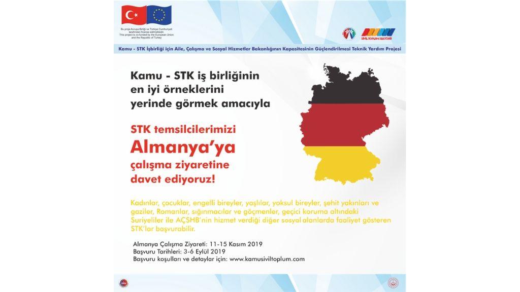 Kamu-STK İşbirliği Projesi Almanya Çalışma Ziyareti için Başvurular Başladı!