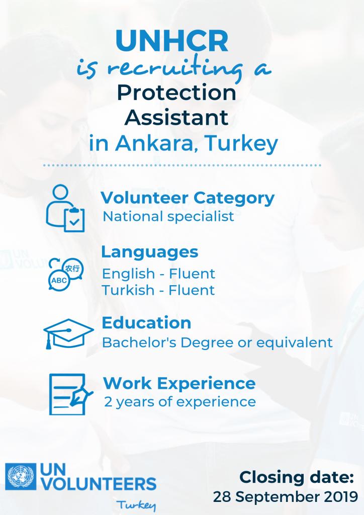 UNHCR Türkiye'de Ankara Ekibine Katılmak İçin Mülteci Koruma Asistanları Arıyor!