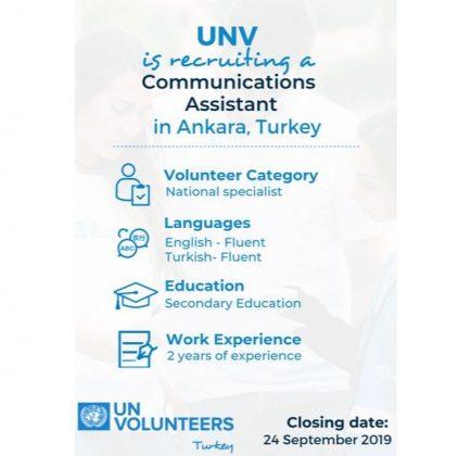 UNV Türkiye'de Ankara Ekibine Katılmak İçin İletişim Asistanı Arıyor!