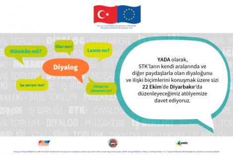 YADA 'Sivil Diyaloğun Güçlenmesi' Atölyesine Davet Ediyor!