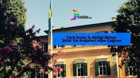 Türk-İsveç İş Birliği Birimi 2020 Yılı Projeleri Hibe Çağrısı! Son Başvuru Tarihi 14 Ekim 2019'dur.